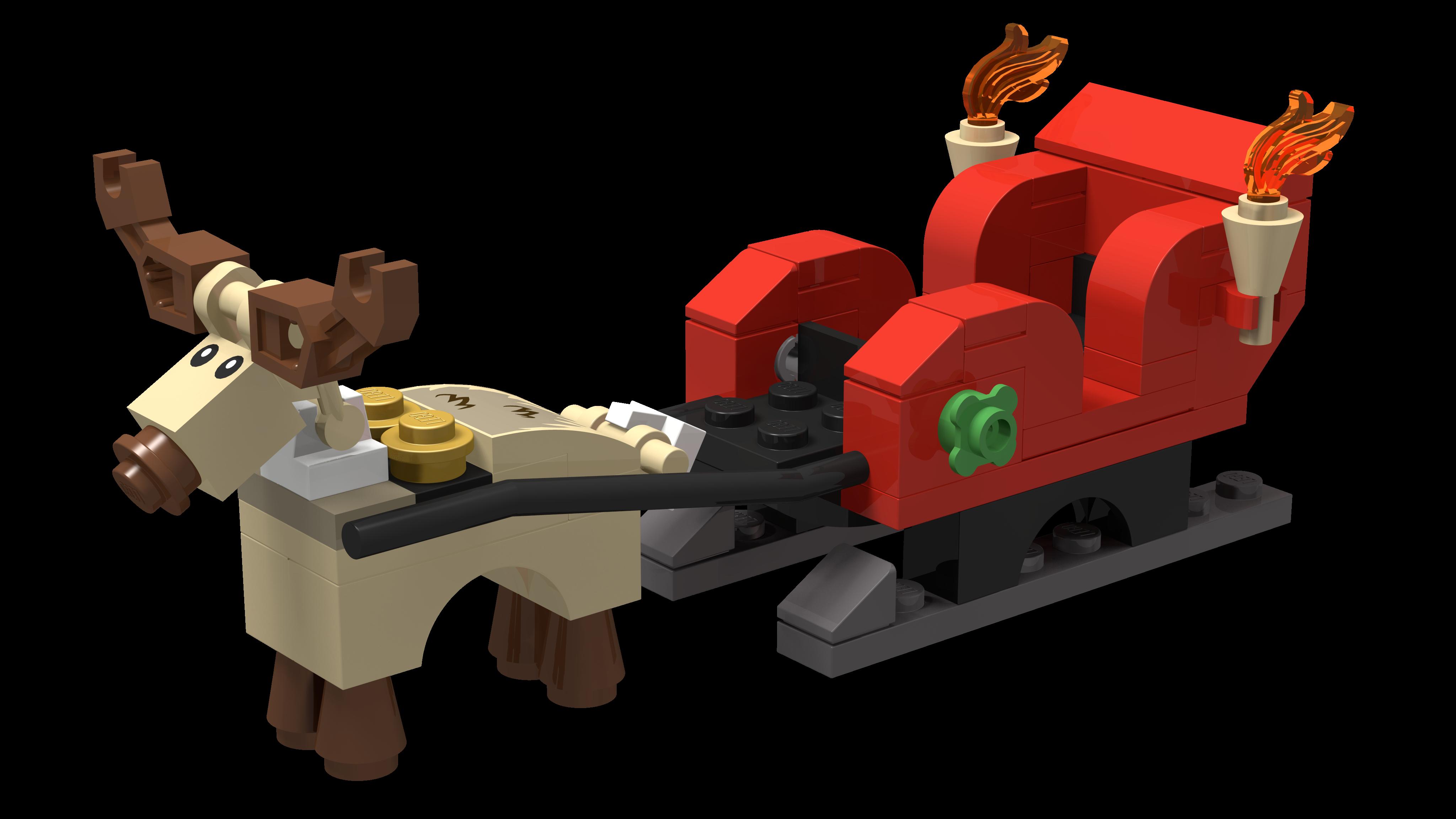 lego santa christmas sleigh